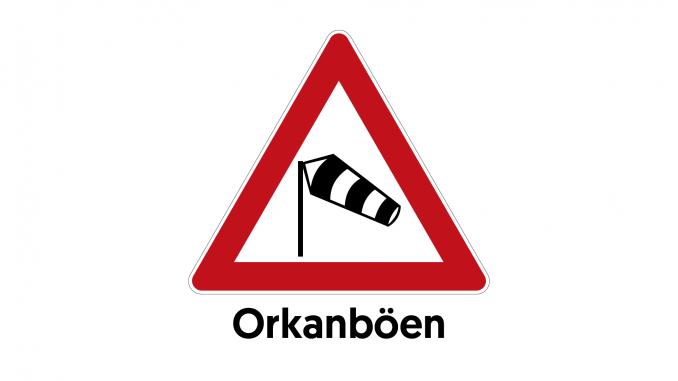 VORABINFORMATION UNWETTER vor ORKANBÖEN