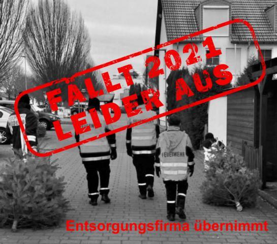 Absage Weihnachtsbaumabholung durch Jugendfeuerwehr -Entsorgungsunternehmen übernimmt