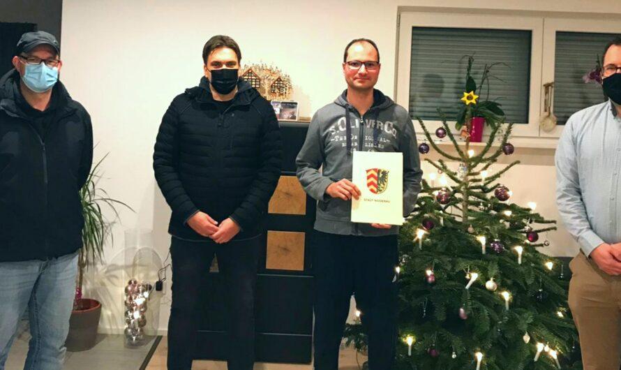 Benjamin Hahn bleibt stellvertretender Wehrführer in Erbstadt