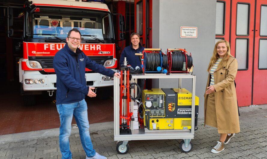 Feuerwehr Nidderau fasziniert mit Notstromkonzept
